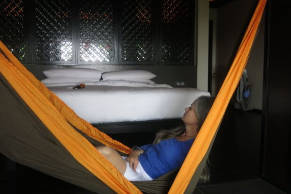Schlafexperin und Schlafzimmer