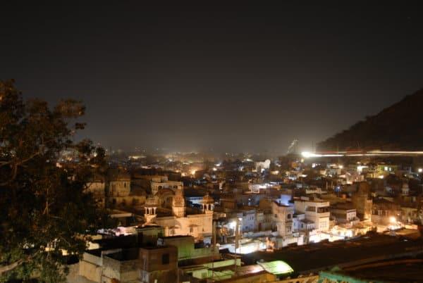 Lichtverschmutzung in Nordindien